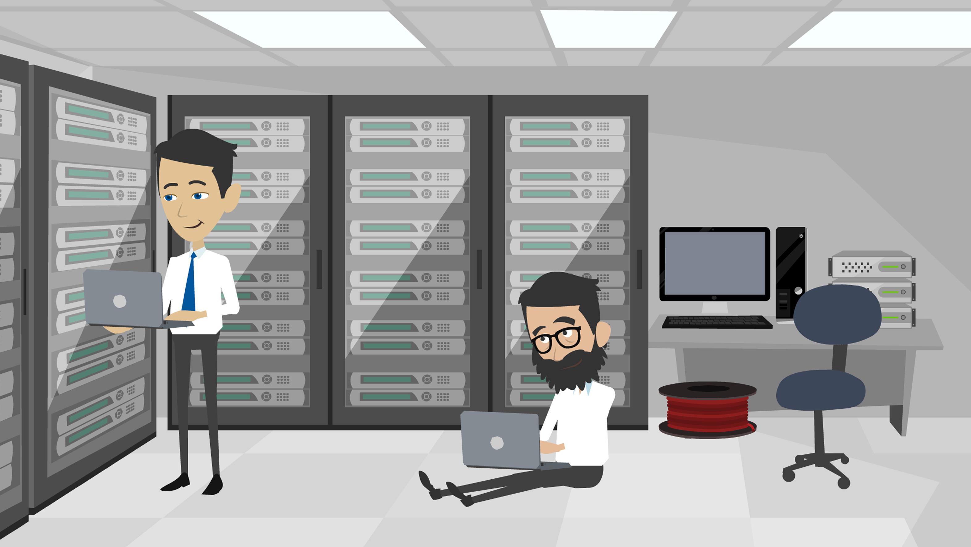 mark derho oleg sunko tech savvy nyc server room animated 2017